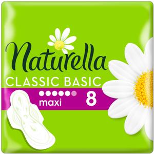 Прокладки гигиенические ароматизированные с крылышками Basic Maxi 8шт NATURELLA