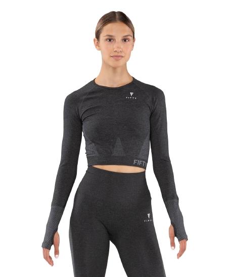 Женская футболка с длинным рукавом Emphatic grey FA-WL-0203-GRY, серый