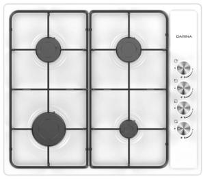 Газовая варочная панель DARINA T1 BGM 341 11 W белый