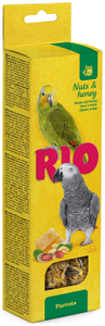 "RIO / Лакомство для средних попугаев ""Палочки"" с мёдом и орехами 150 гр."
