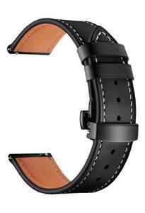 Универсальный кожаный ремешок для часов 22 mm LYAMBDA ANNET MANCINI LWA-S05-22-BK Black