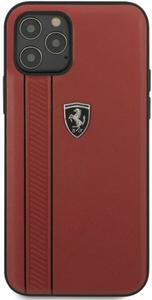 Чехол накладка Ferrari для Apple iPhone 12 Pro красный