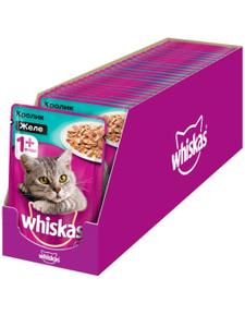 Влажный корм для кошек Whiskas желе с кроликом, 85г ( 28 шт. в уп. )