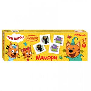 """Игра настольная Step Puzzle """"Три кота"""", картонная коробка"""