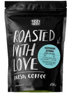 "Tasty Coffee, моносорт эспрессо ""Колумбия Дулима"" в зернах, 250 грамм"