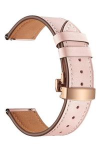Универсальный кожаный ремешок для часов 20 mm LYAMBDA ANNET MANCINI LWA-S05-20-PK Pink