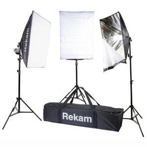 Комплект флуоресцентных осветителей с софтбоксами Rekam CL-465-FL3-SB Kit