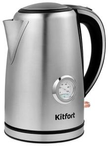 Чайник электрический Kitfort КТ-676 серебристый