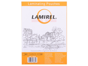 Пленка для ламинирования  Lamirel,  А4, 75мкм, 100 шт.