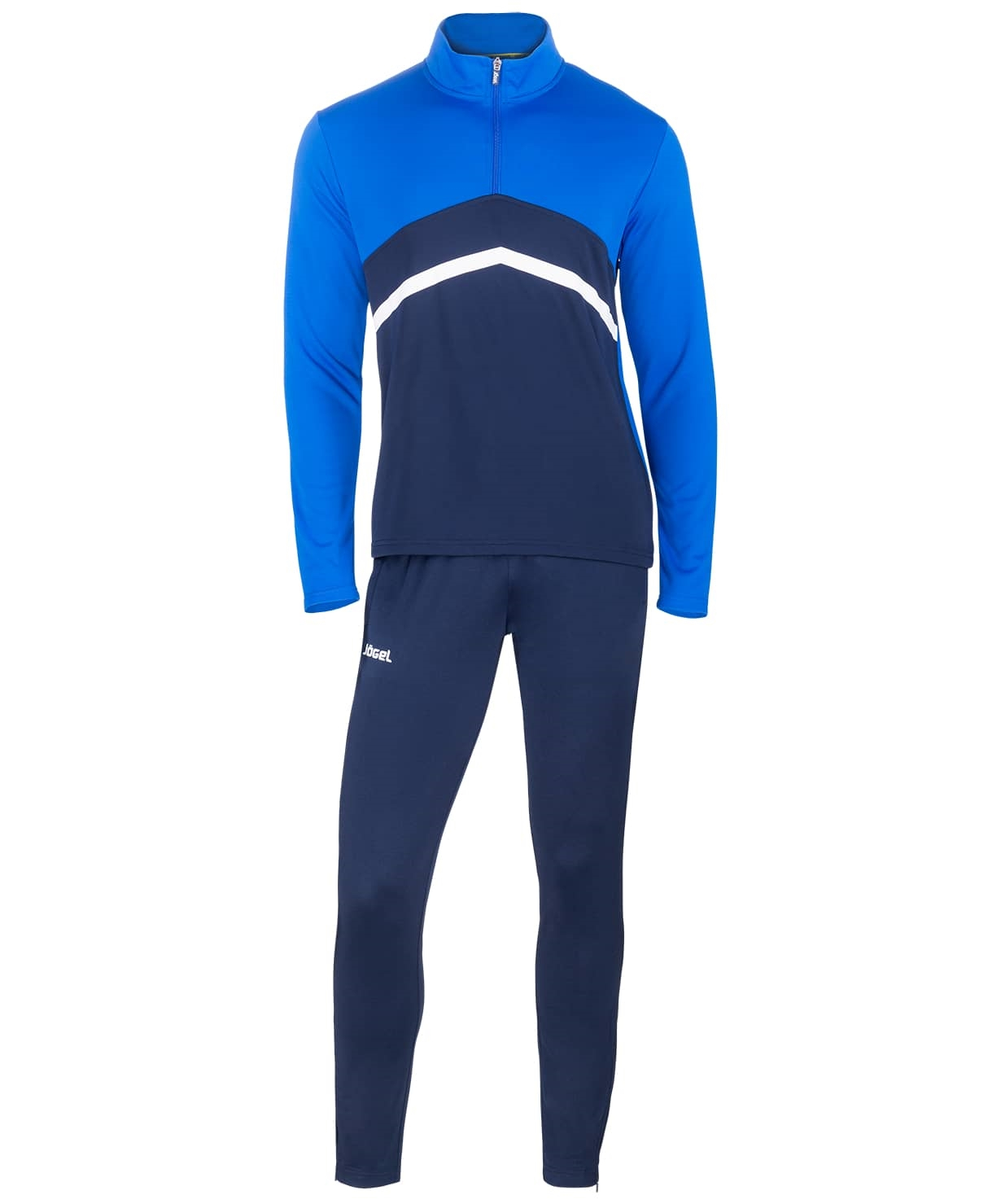 Костюм тренировочный JPS-4301-971, полиэстер, темно-синий/синий/белый
