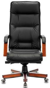 Кресло для руководителя Бюрократ T-9927WALNUT черный