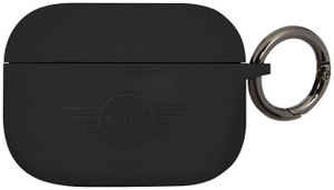 Чехол MINI liquid silicone printed logo для AirPods Pro, черный