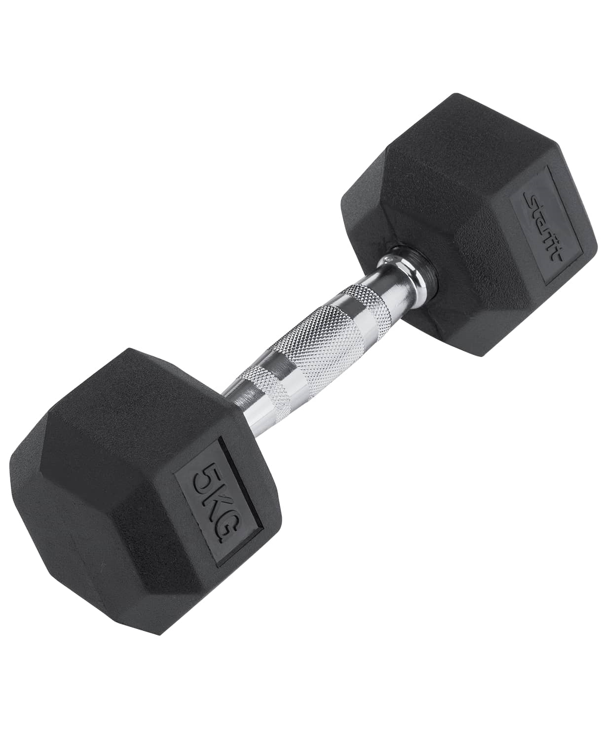 Гантель обрезиненная DB-301 5 кг, черная