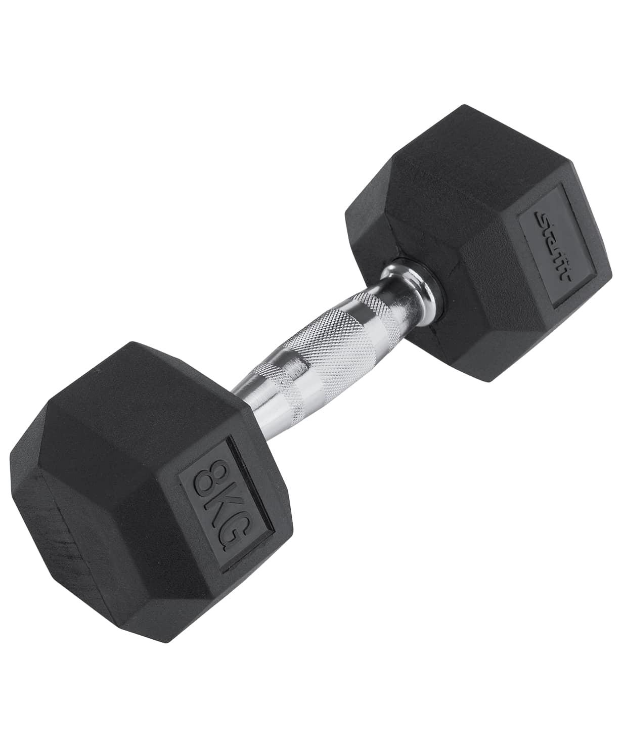 Гантель обрезиненная DB-301 8 кг, черная