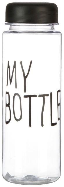 """Бутылка для воды 500 мл """"My bottle"""" с винтовой крышкой, чёрная, 6.5х19 см 2463600"""