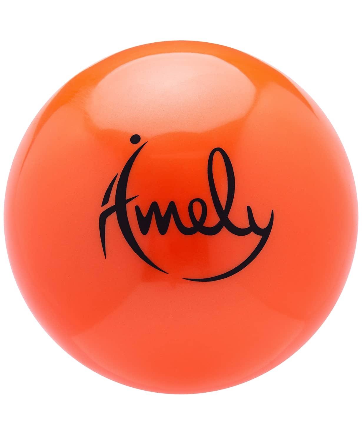 Мяч для художественной гимнастики AGB-301 19 см, оранжевый