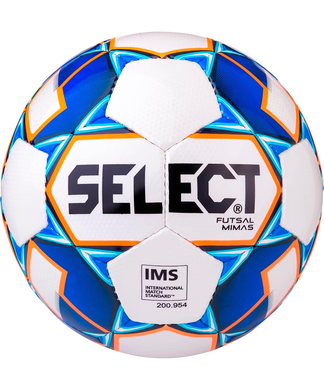 Мяч футзальный Futsal Mimas IMS 852608 №4, белый/синий/оранжевый/черный
