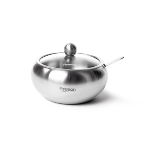 Сахарница Fissman 460мл (нерж.сталь) серый