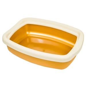 """Туалет для кошек с бортиком """"Твик"""" 31*42*11 Оранжевый"""