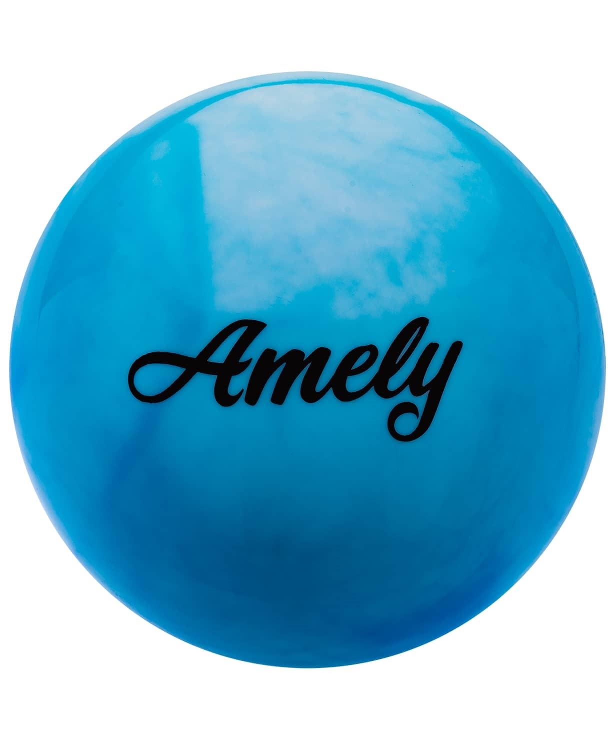 Мяч для художественной гимнастики AGB-101, 19 см, синий/белый
