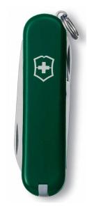 Нож перочинный Victorinox Classic (0.6223.4-033) 58мм 7функций зеленый подар.коробка