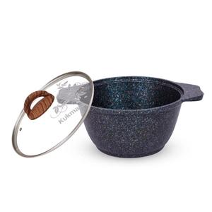 """Кастрюля 2л со стекл. крышкой, АП линия """"Granit ultra"""" (blue)"""