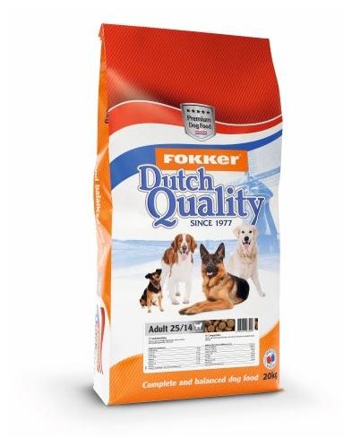 Сухой корм Fokker Dog Dutch Quality Silver 25/14 для собак всех пород со средней активностью, 20кг