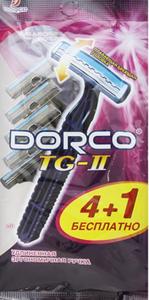 Станок одноразовый мужской с 2-мя лезвиями и увлажняющей полосой 5шт+1 Dorco