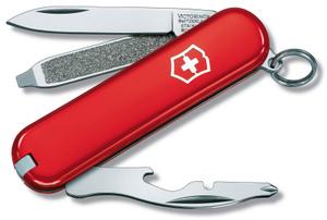 Нож перочинный Victorinox Rally (0.6163.R) 58мм 9функц. красный карт.коробка