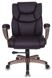 Кресло для руководителя Бюрократ T-9999 коричневый