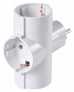 Сетевой разветвитель Buro BU-PS3TG-W (3 розетки) белый (пакет ПЭ)