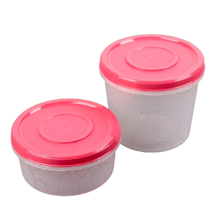 Комплект емкостей для продуктов с завинчивающейся крышкой 0,4 л + 0,7 л Plastic Republic