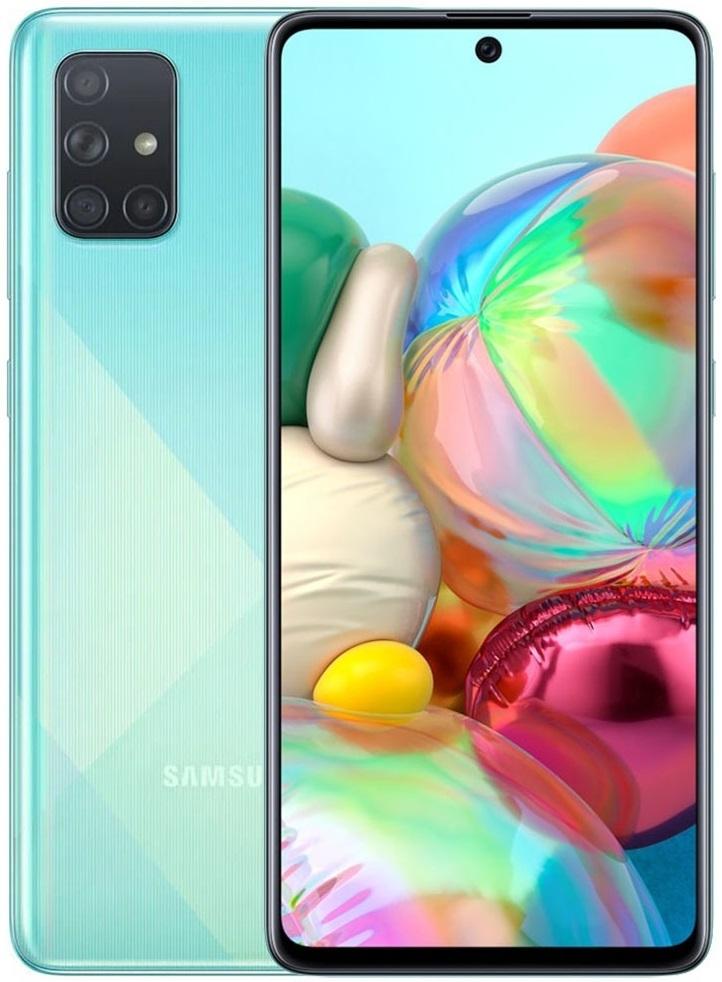 Смартфон Samsung Galaxy A71 128 Гб голубой