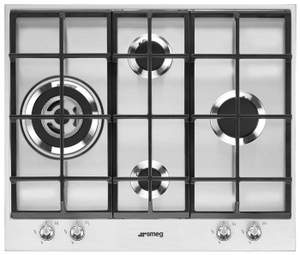 Газовая варочная панель SMEG PX164L серебристый