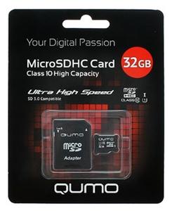 Карта памяти Qumo QM32GMICSDHC10U1 32 Гб