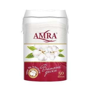 Ватные диски 50шт AMRA