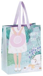 """Пакет подарочный 18*23*10см MESHU """"Spring mood"""", отд. фольгой, матовая ламинация"""