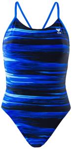 Купальник TYR Lumen Cutoutfit, совместный, CLUE7A/420, голубой