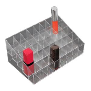 Органайзер для маникюрных/косметических принадлежностей, 40 секций, 19 × 12 × 8 см, цвет прозрачный