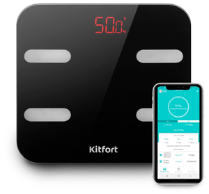Весы напольные Kitfort КТ-806 черный