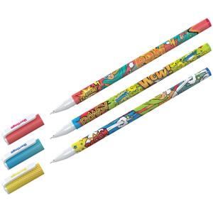 """Ручка шариковая Berlingo """"Funline. Hype"""", синяя, 0,7мм, рисунок на корпусе, ассорти"""