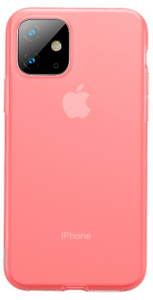 Baseus чехол для iPhone 11 Jelly Liquid Silica Hard Gel Transparent Red