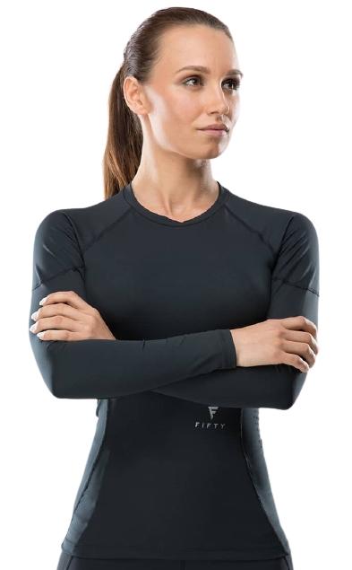 Женская футболка с длинным рукавом High Tension FA-WL-0101-BLK, черный