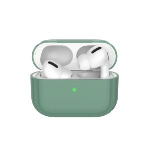 Чехол силиконовый Deppa для AirPods Pro (Темно-Зеленый)