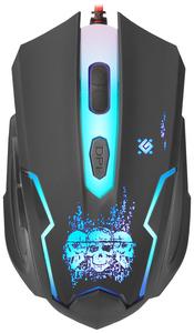 Мышь проводная Defender Skull GM-180L черный