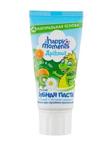 Зубная паста Happy Moments Дракоша со вкусом фруктовой мяты