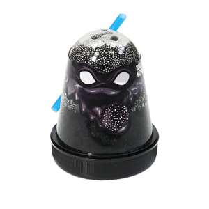 """Слайм Slime """"Ninja. Звездная ночь"""", с пенопластовыми шариками, черный, 130г"""