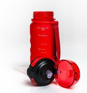 UZSPACE / Бутылка для воды Sports Bottle Straw 350, красный