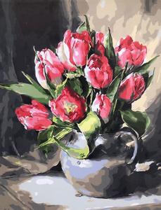 "Картина по номерам на холсте 40*50 см ""Тюльпаны"""