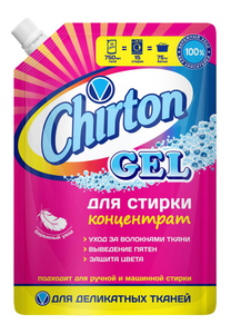 Гель для стирки изделий из ДЕЛИКАТНЫХ тканей 750мл дой-пак Chirton